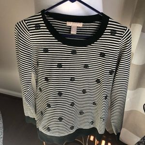 Banana Republic sequin and stripped top